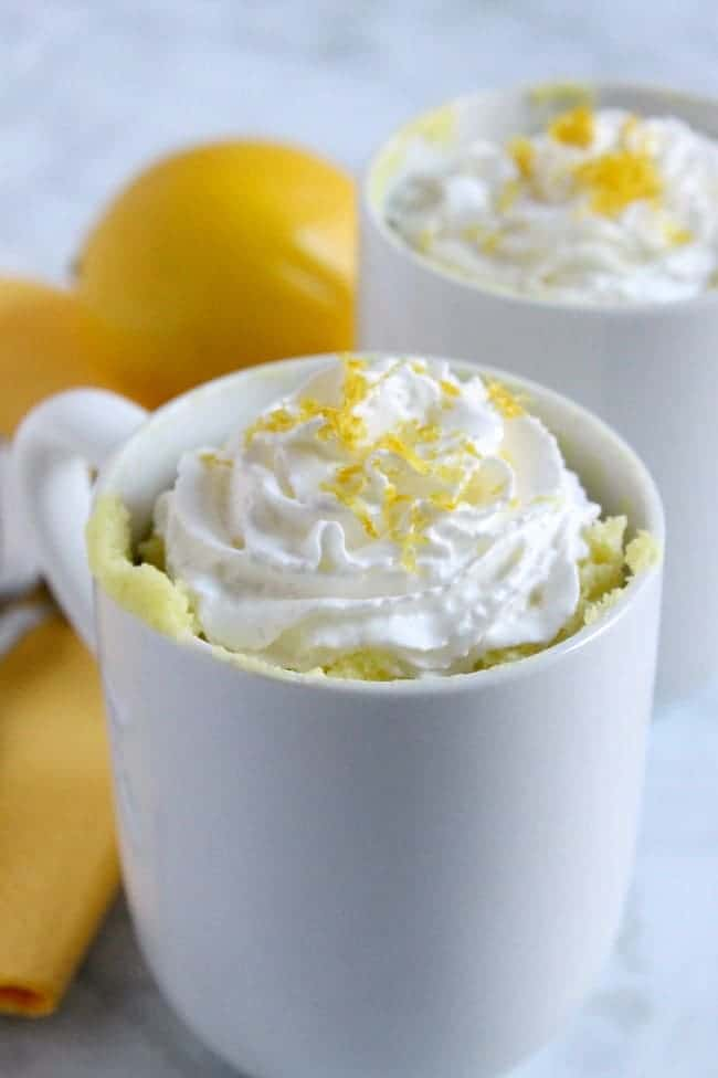 Lemon Cheesecake Mug Cake | The Bitter Side of Sweet #lemon #cake #cheesecake