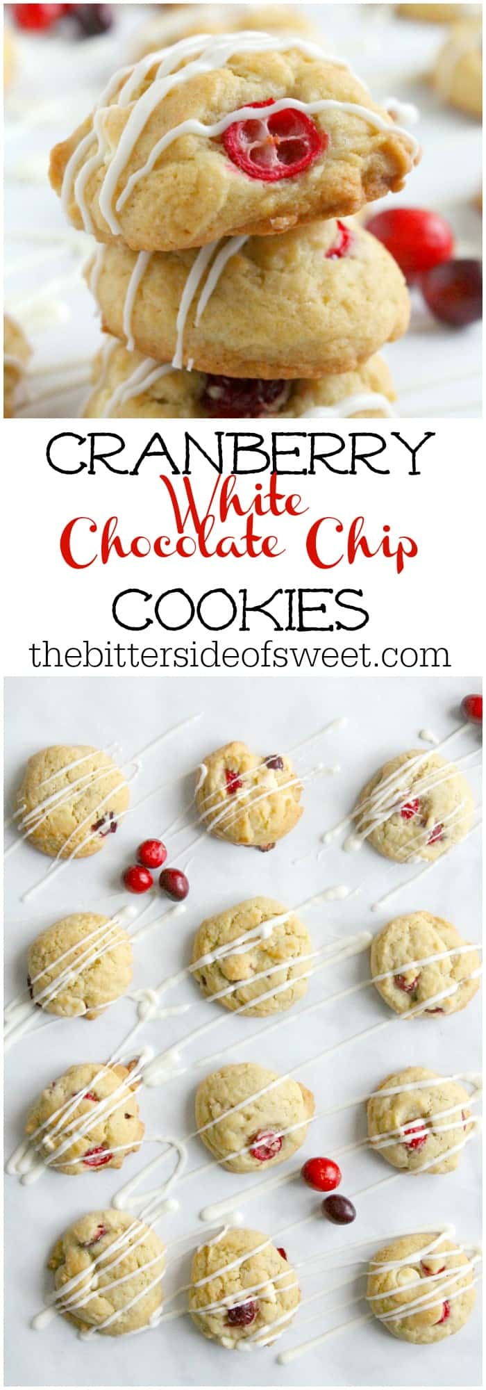 Cranberry White Chocolate Chip Cookies #ChristmasCookies ...