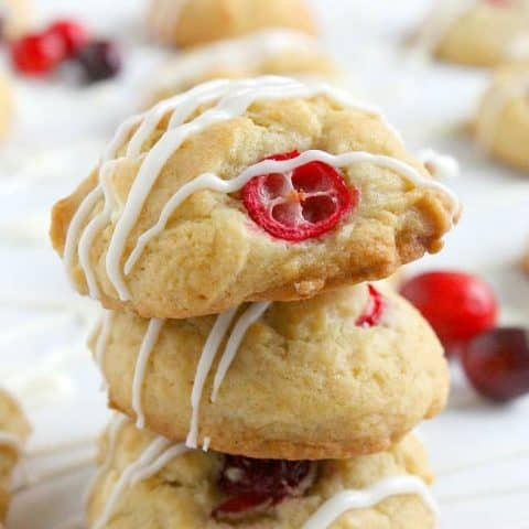 Cranberry White Chocolate Chip Cookies | The Bitter Side of Sweet #cranberry #cookies #ChristmasCookies