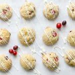 Cranberry White Chocolate Chip Cookies   The Bitter Side of Sweet #cranberry #cookies #ChristmasCookies