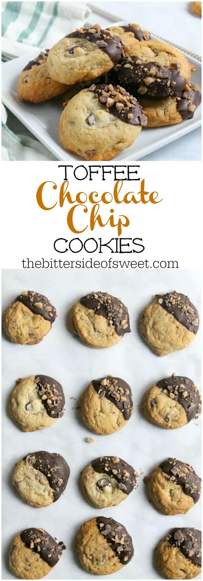 Toffee Chocolate Chip Cookies - theBitterSideofSweet