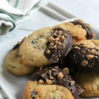 Toffee Chocolate Chip Cookies #ChristmasCookies