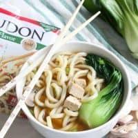 Tofu Teriyaki Noodle Soup