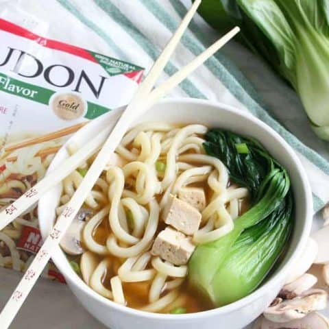 Tofu Teriyaki Noodle Soup | The Bitter Side of Sweet #ad #fortune #chefyaki