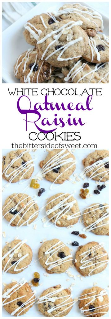 White Chocolate Oatmeal Raisin Cookies |The Bitter Side of Sweet #cookies #ChristmasCookies