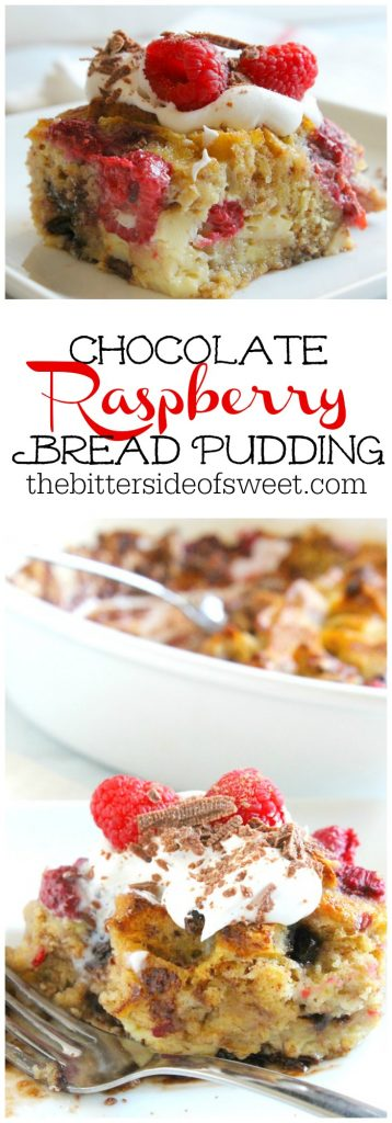 Chocolate Raspberry Bread Pudding | The Bitter Side of Sweet #ad #LeggoMyEggo #cbias #chocolate #raspberry