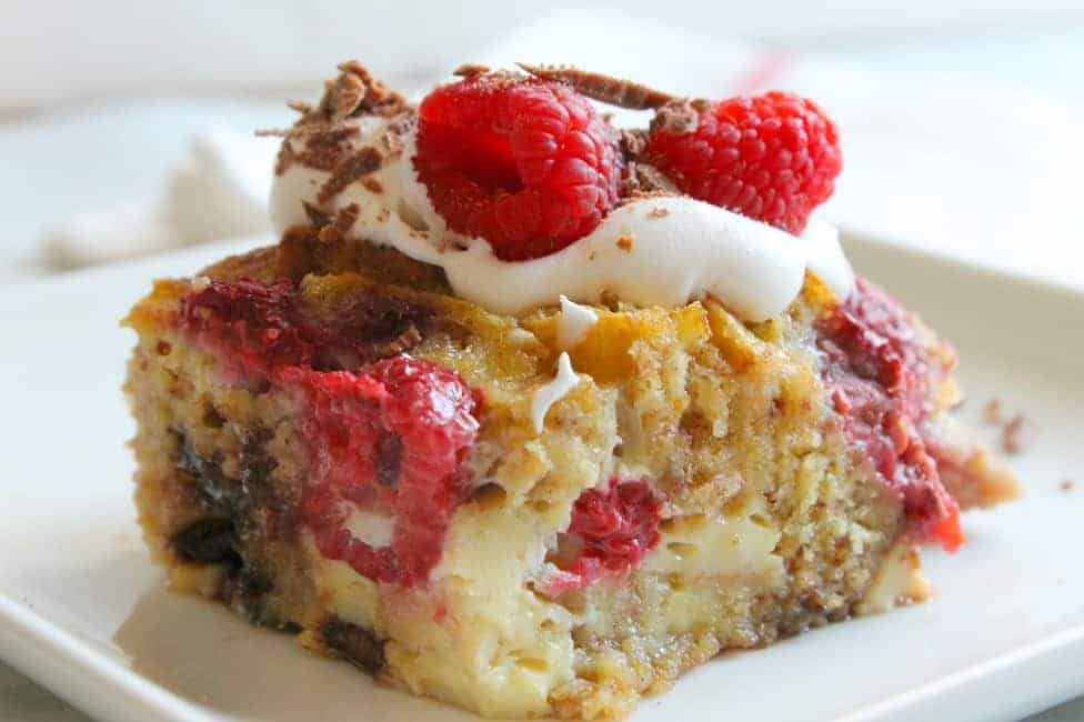 Chocolate Raspberry Bread Pudding Pic