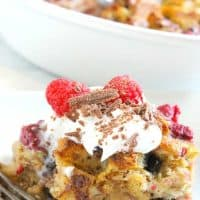 Chocolate Raspberry Bread Pudding
