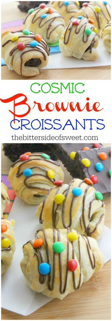 Cosmic Brownie Croissants | The Bitter Side of Sweet #puffpastry #brownie #chocolate