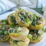 Spinach Mushroom Quiche Bites | The Bitter Side of Sweet #mushrooms #egg #appetizer #puffpastry