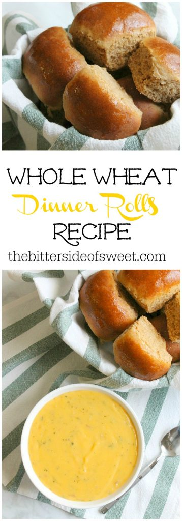 Whole Wheat Dinner Rolls Recipe | The Bitter Side of Sweet #ad #IdahoanSoups