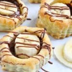 Banana Nutella Puff Pastry Cups | The Bitter Side of Sweet #nutella #puffpastry #chocolate #banana #dessert