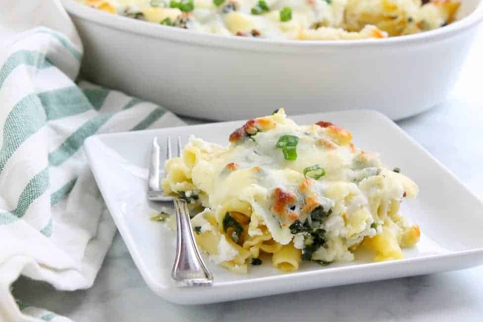Spinach Ricotta Pasta Bake | The Bitter Side of Sweet #spinach #pasta #SundaySupper