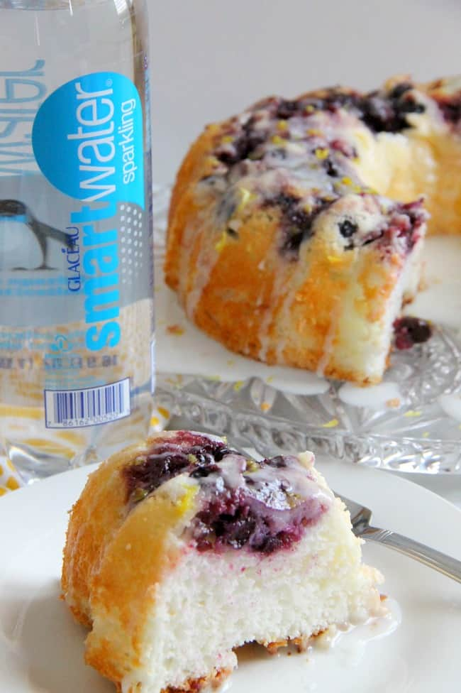 Blueberry Lemon Angel Food Cake