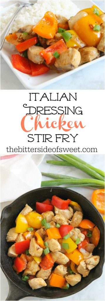 Italian Dressing Chicken Stir Fry