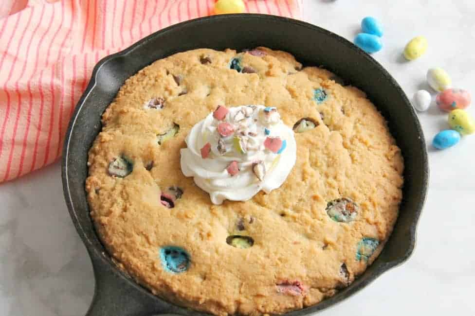 Malted Chocolate Chip Skillet Cookie