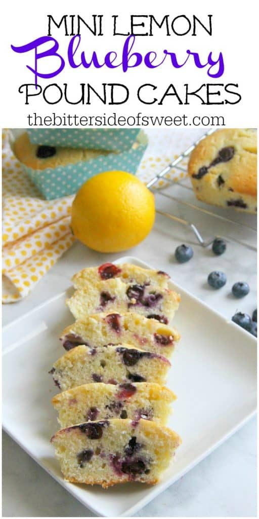Mini Lemon Blueberry Pound Cakes