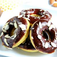 Chocolate Glazed Almond Donuts