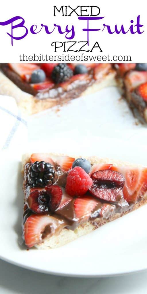 Mixed Berry Fruit Pizza