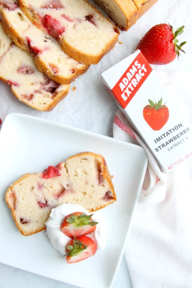 Strawberry Sour Cream Pound Cake