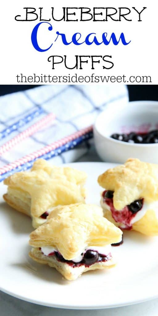 Blueberry Cream Puffs