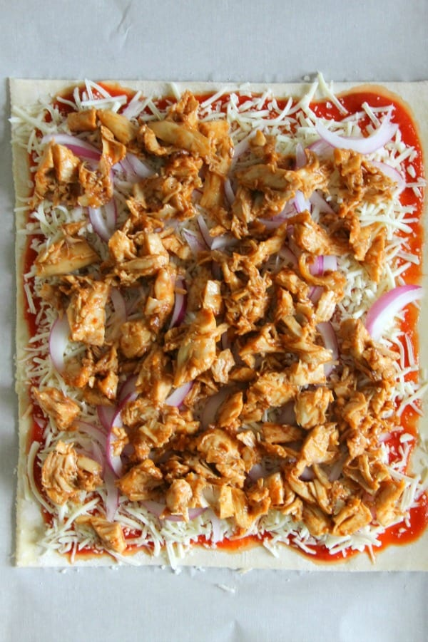 Puff Pastry BBQ Chicken Pizza