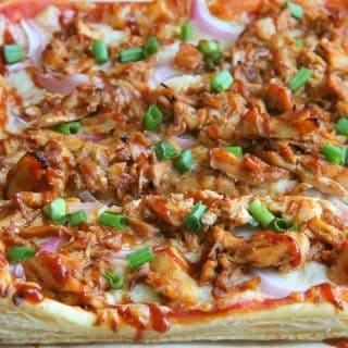 Puff Pastry BBQ Chicken Pizza