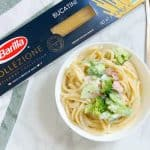 Creamy Broccoli and Ham Bucatini