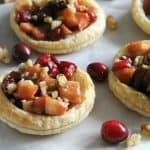 Cranberry Apple Walnut Tarts with cranberries