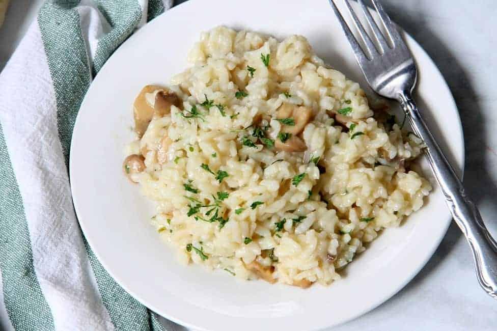 Instant Pot Creamy Mushroom Risotto
