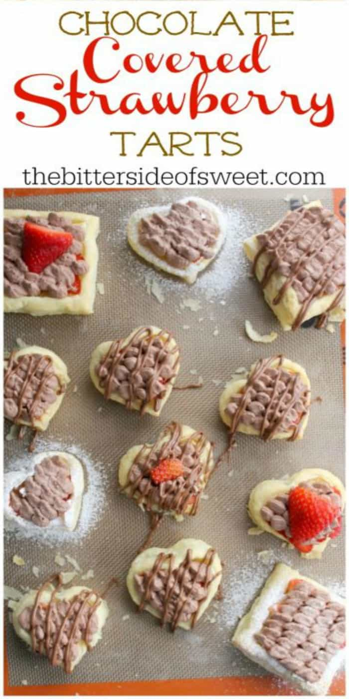 Celebrate Valentine's this year with these simple to make Chocolate Covered Strawberry Tarts! | The Bitter Side of Sweet #chocolate #strawberry #puffpastry #valentines