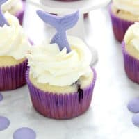 Blueberry Lemonade Mermaid Cupcakes