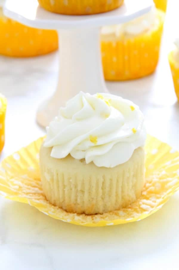 Lemon Cupcakes on white background
