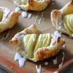 Apple Cinnamon Danish Pastry on sheet pan