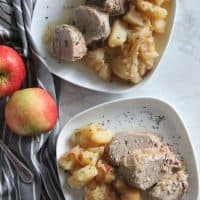 Instant Pot Pork Tenderloin with Apples and Onions