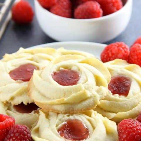 Raspberry Butter Cookies