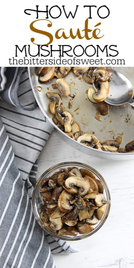 How To Sauté Mushrooms on white background