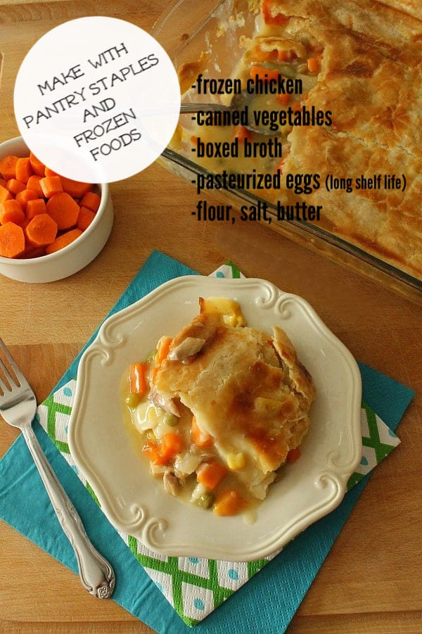 Homemade Chicken Pot Pie with carrots