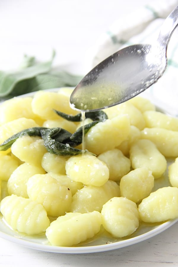 Sage Butter Gnocchi with butter