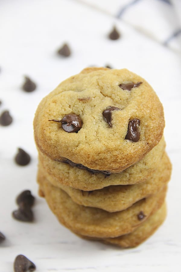 Classic Chocolate Chip Cookies on white background
