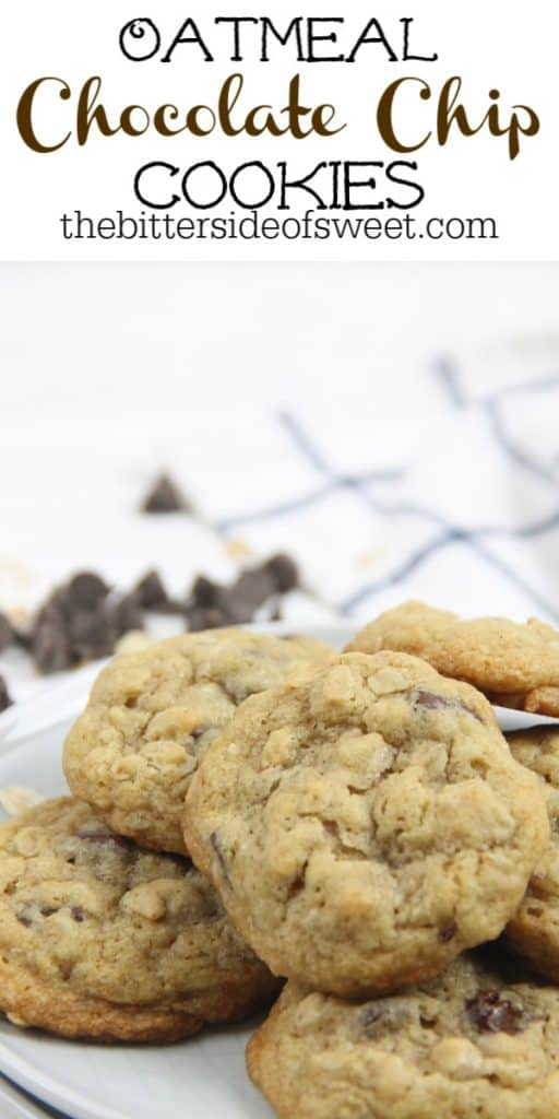 Oatmeal Chocolate Chip Cookies on plate