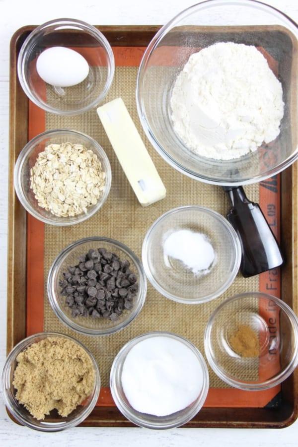Oatmeal Chocolate Chip Cookies ingredients