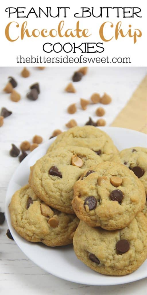 Peanut Butter Chocolate Chip Cookies with peanut butter chips