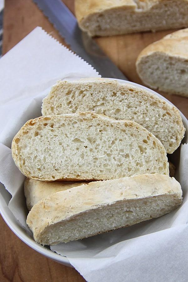 Homemade Italian Bread in bowl
