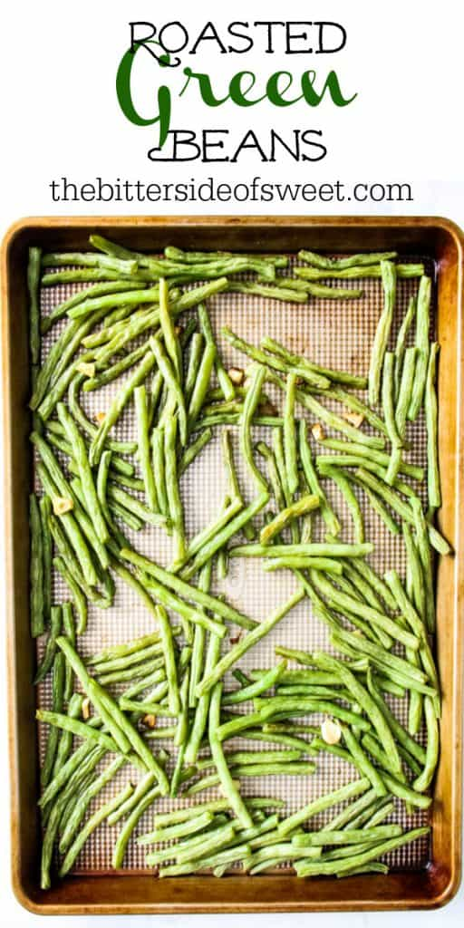 Sheet Pan Roasted Green Beans on sheet pan
