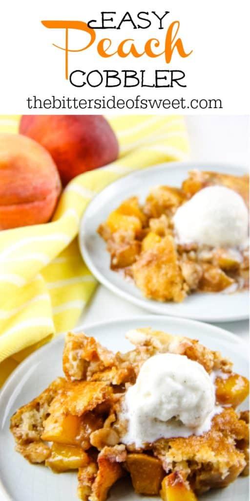 Peach Cobbler on plates