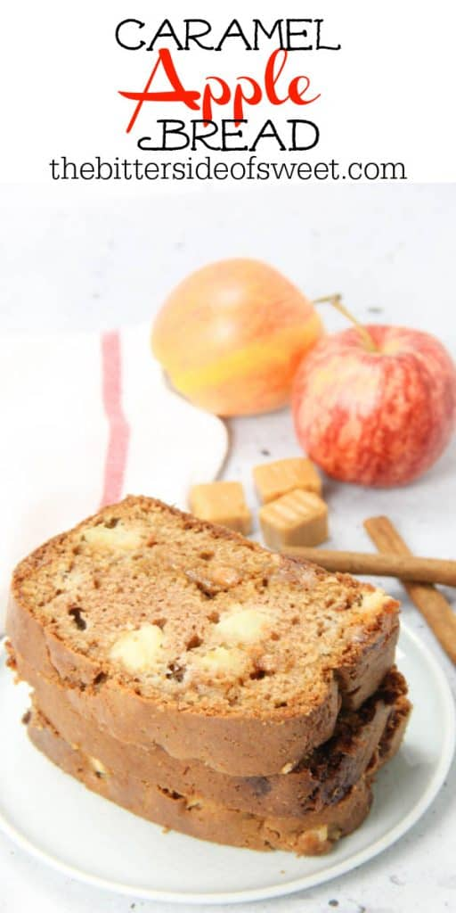 Caramel Apple Bread on white plate