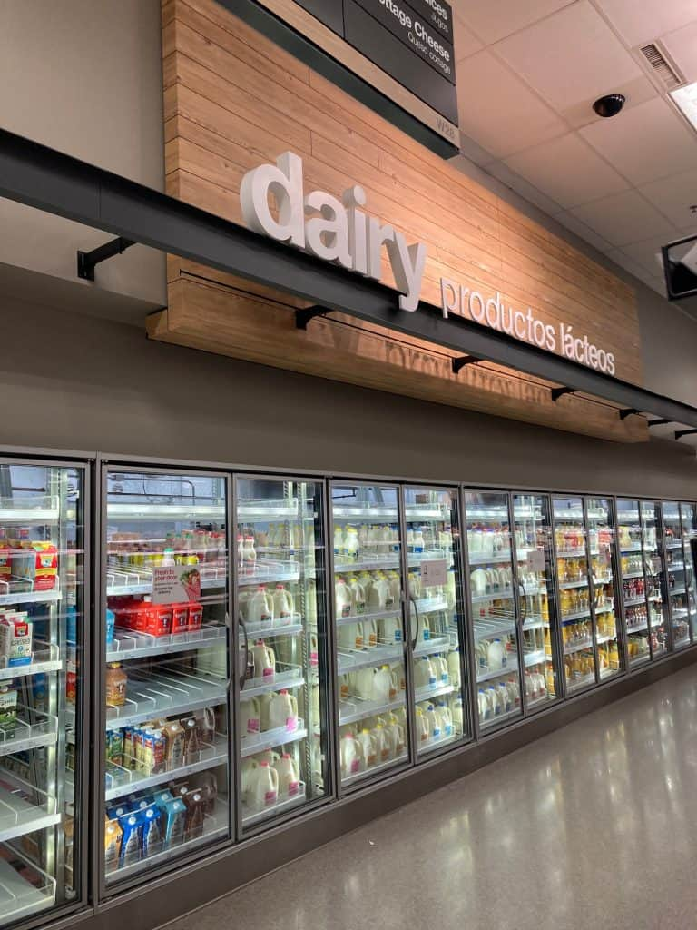 Picture of dairy isle in Target