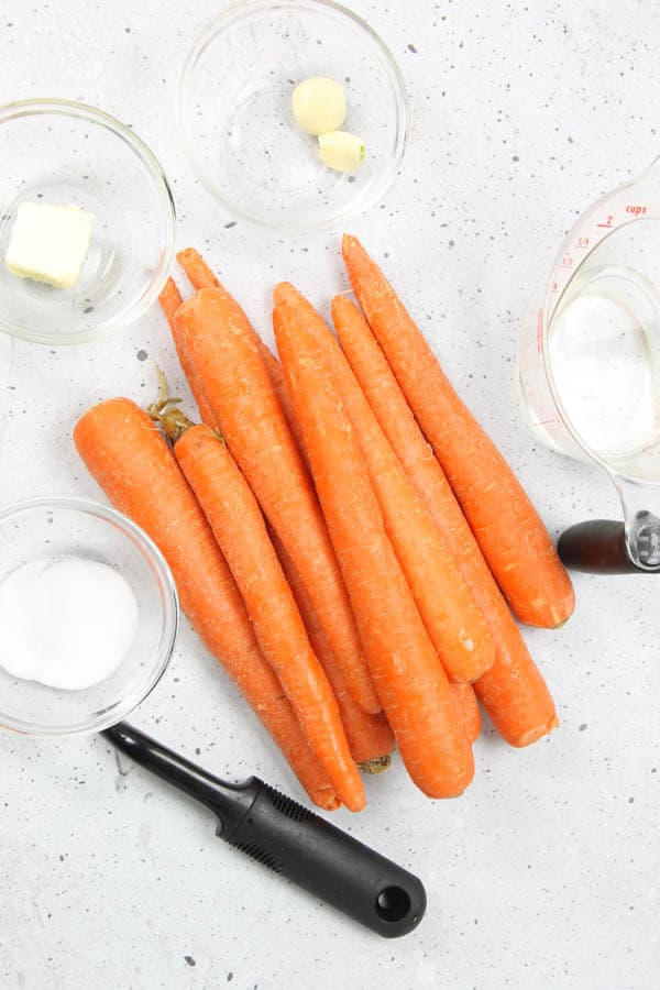 Instant Pot Carrots Ingredients