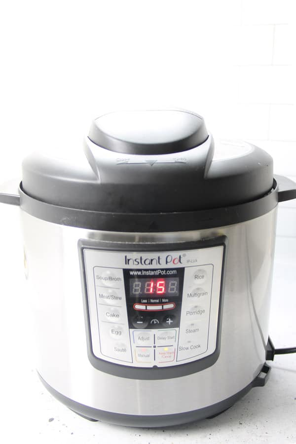 Instant Pot with timer on 15 minutes
